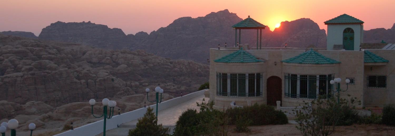 Sunset over B&B Petra Fig Tree Villa