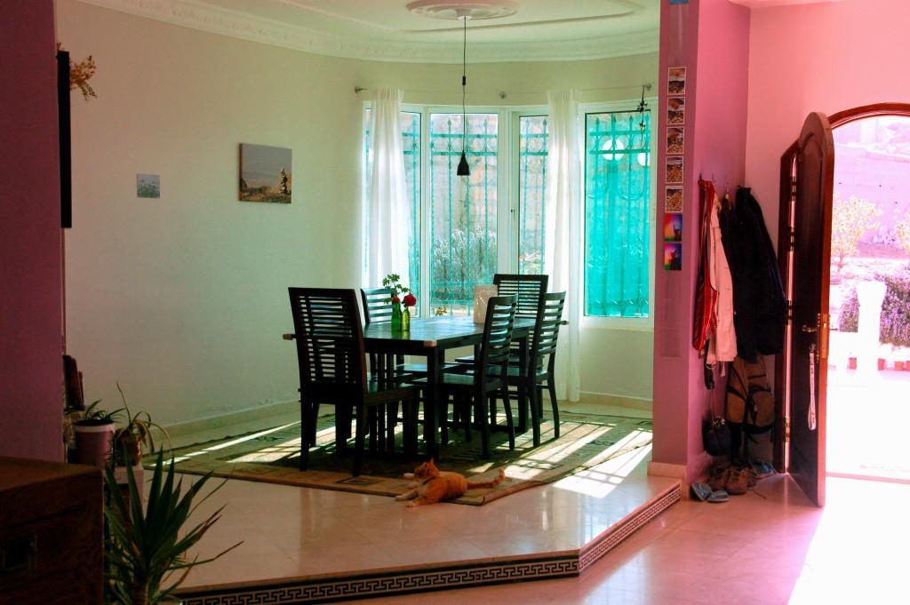 Living room of B&B Petra Fig Tree Villa, Jordan
