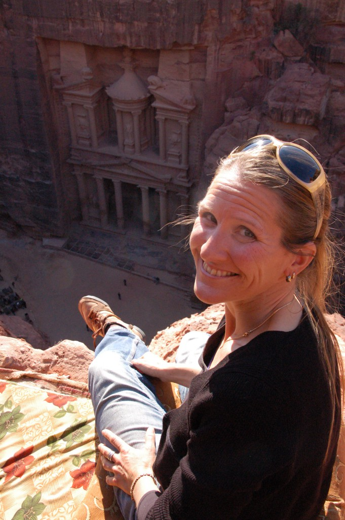 View on The Treasury in Petra (Jolanda, host at B&B Petra Fig Tree Villa)