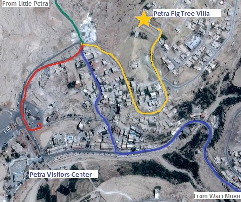 How to find your way to B&B Petra Fig Tree Villa