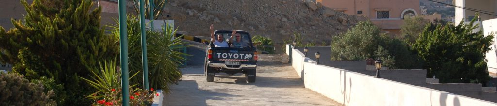 Departure from B&B Petra Fig Tree Villa for hiking the back road hike
