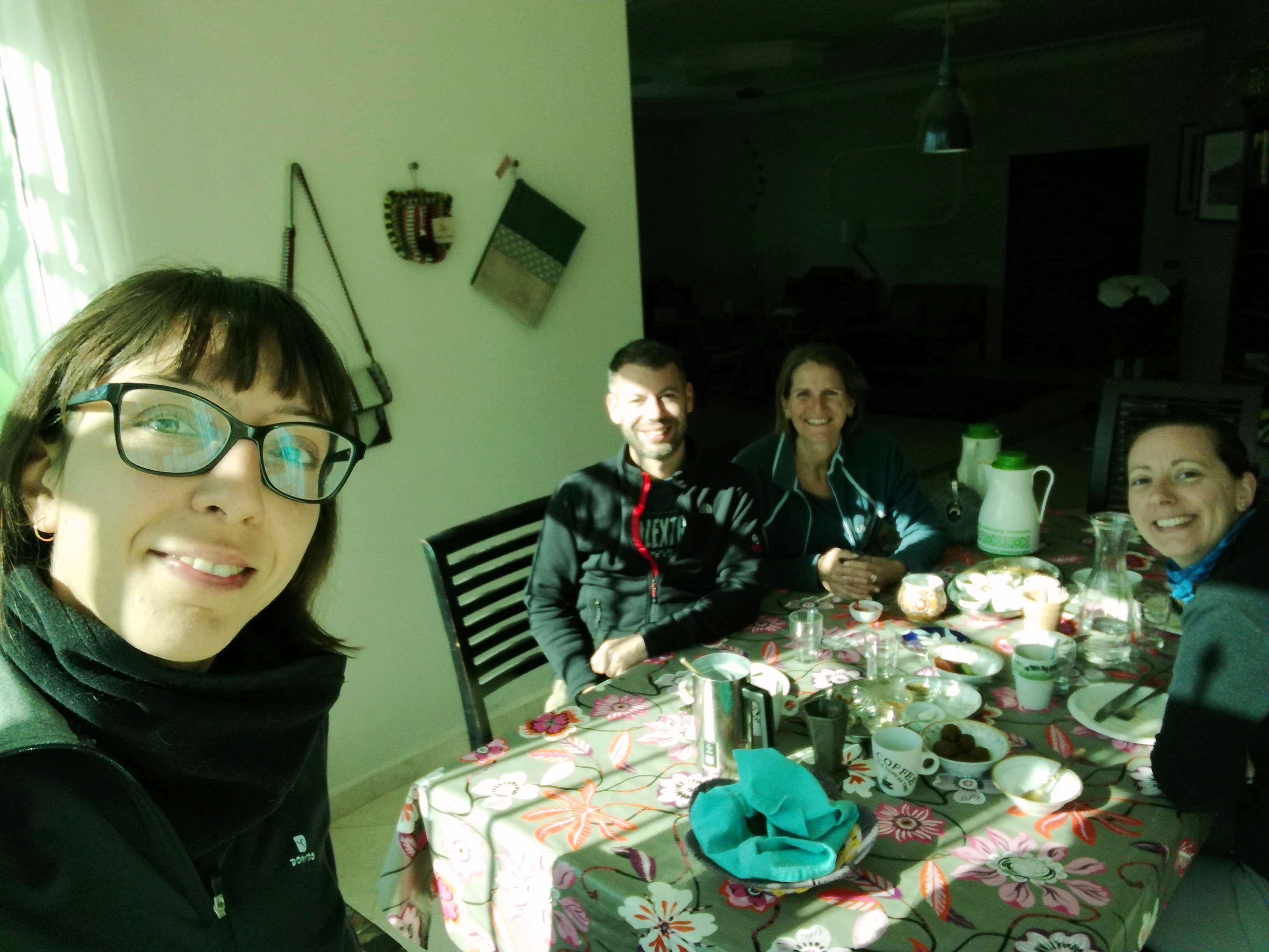 Guests of B&B Petra Fig Tree Villa at breakfast