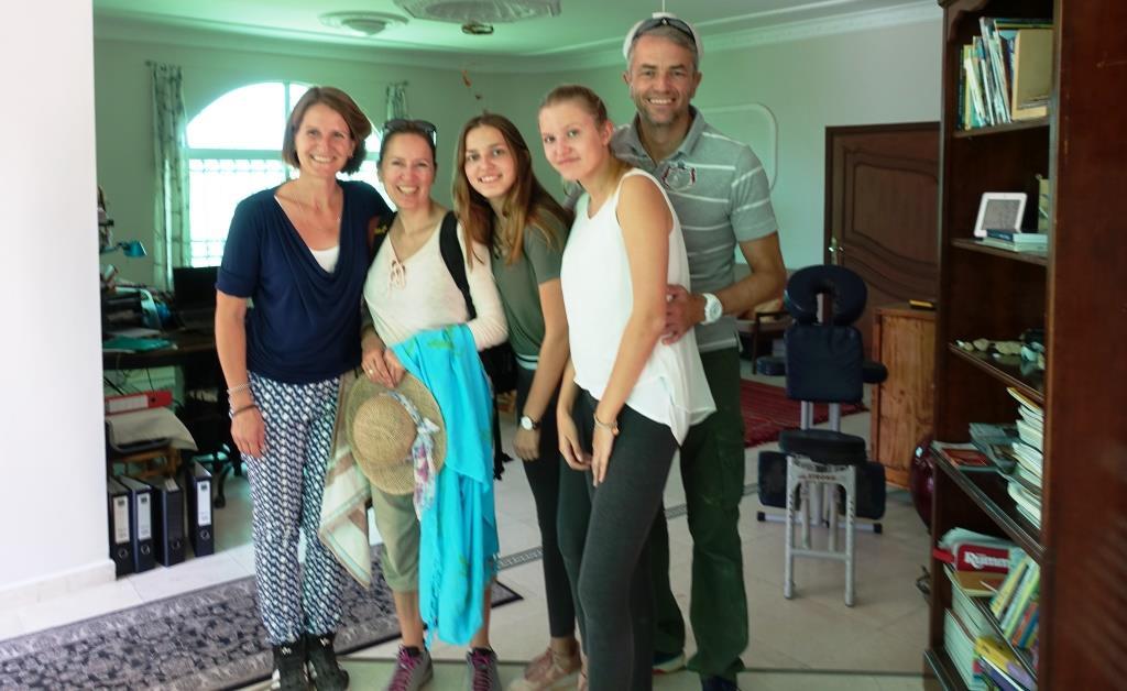 Hackenberg family in B&B Petra Fig Tree Villa