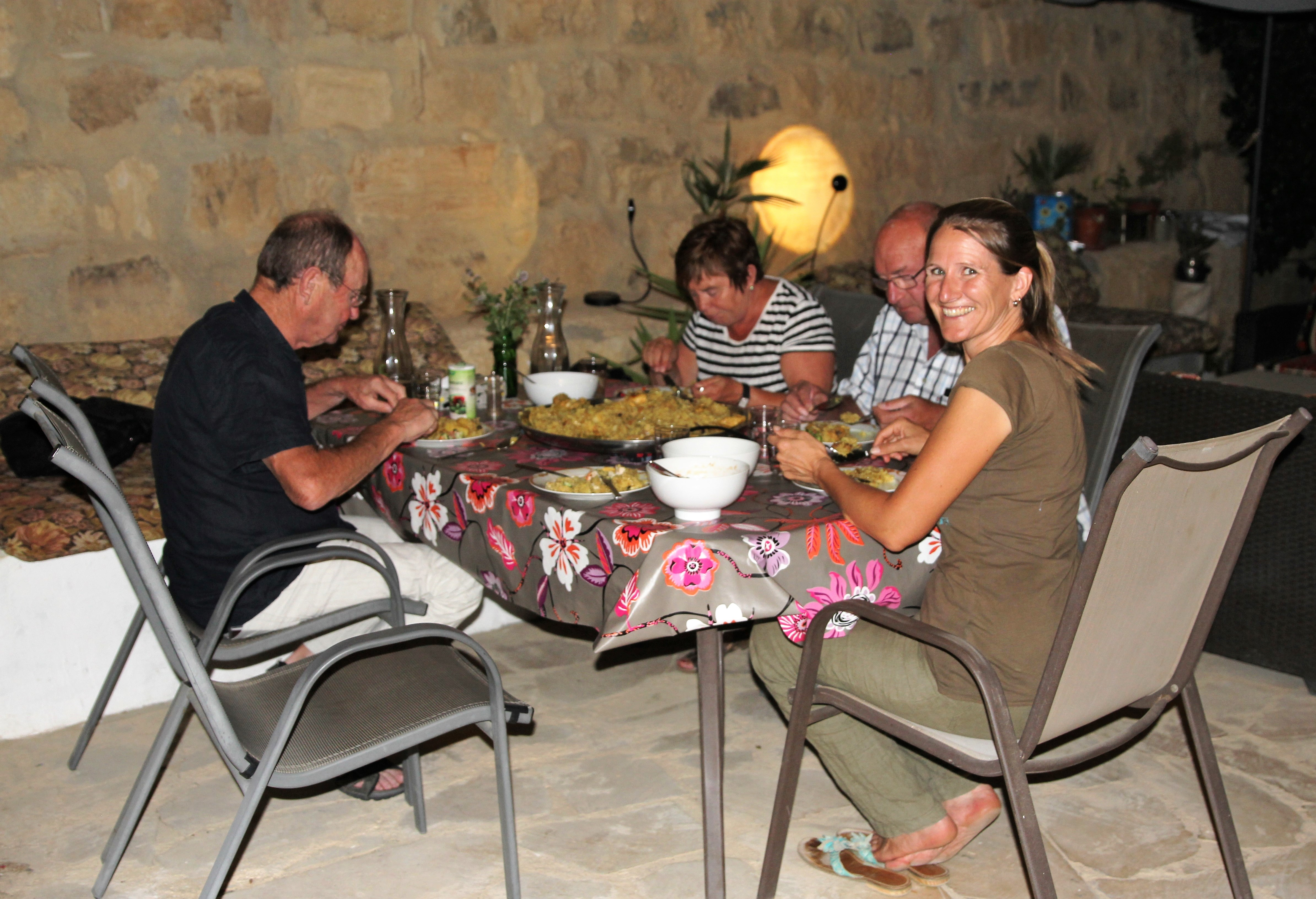 Maglooba for dinner in B&B Petra Fig Tree Villa