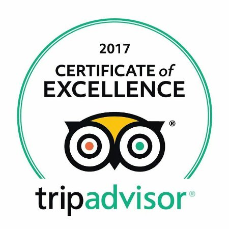 2017 certificate of excellence for B&B Petra Fig Tree Villa