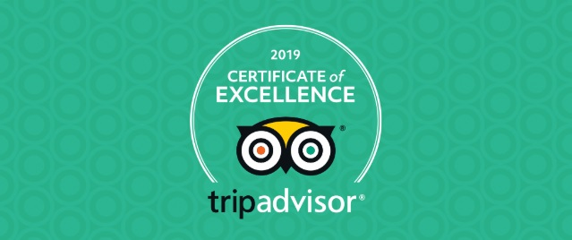 2019 Tripadvisor Certificate of Excellence for bed and breakfast Petra Fig Tree Villa