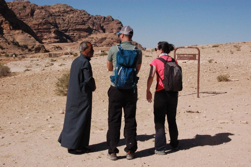 Last tips before the start of the back road hike up to the Monastery.