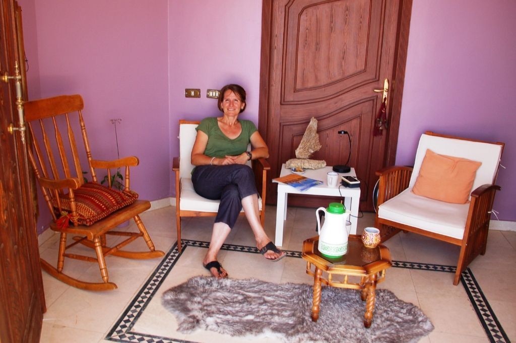 The Salon of bed and breakfast Petra Fig Tree Villa