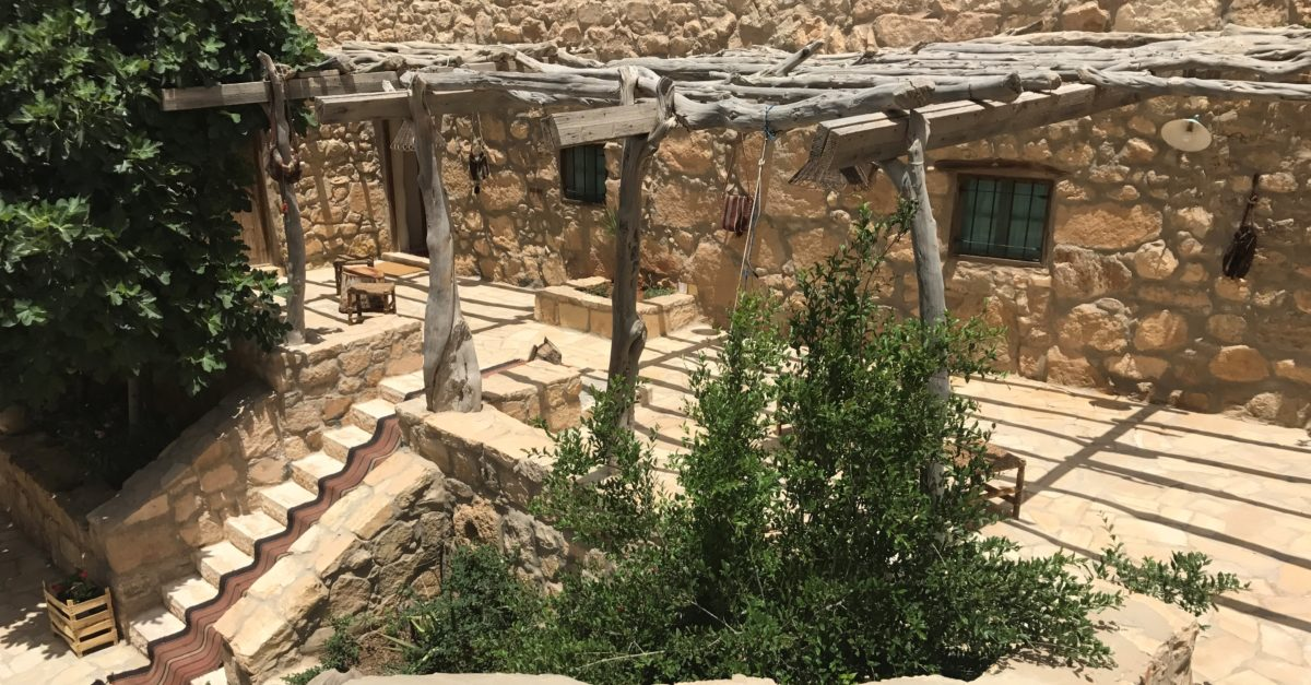 The courtyard of Beit al Taybeh