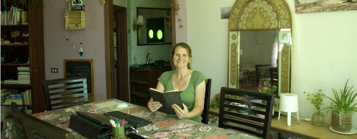 Jolanda with guestbook reviews of Petra Fig Tree Villa