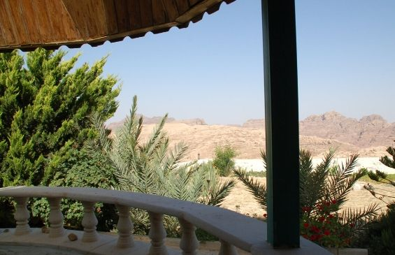 View from the back terrace Petra room of Petra Fig Tree Villa