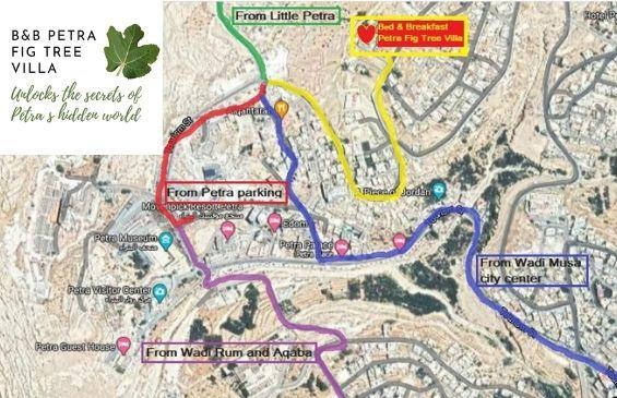 Directions to B&B Petra Fig Tree Villa