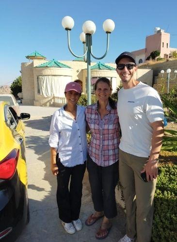 Happy guests of B and B Petra Fig Tree Villa